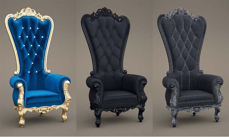 High Back King and Queen Chairs