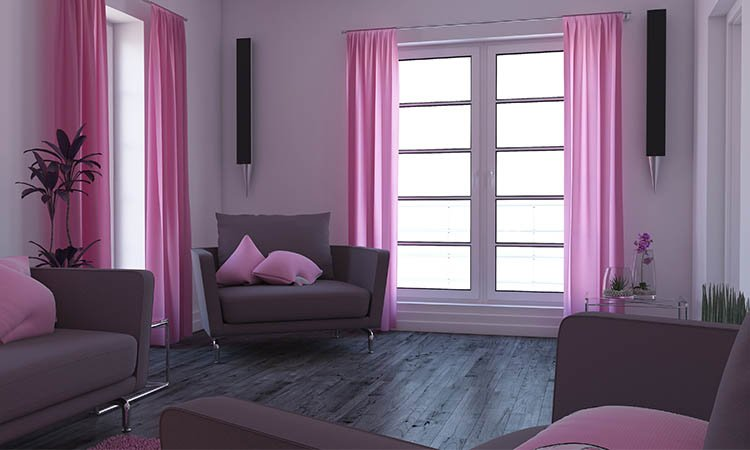 Use Brightly Colored Curtains