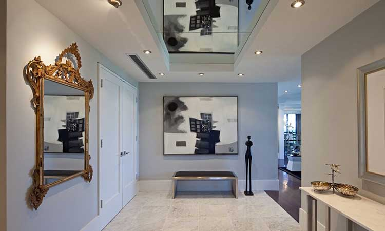 mirror ceiling design