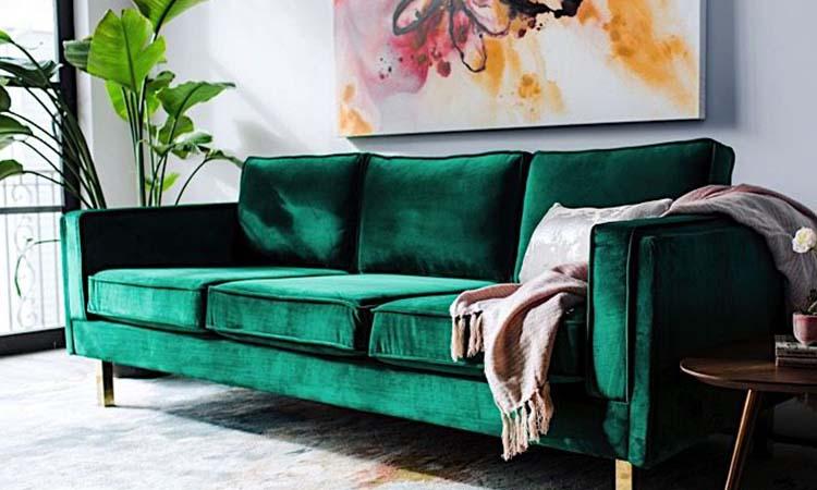 Bardot Velvet Sofa