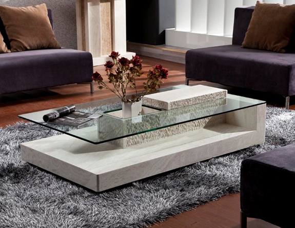 Modern Centre Table Designs with Glass Top